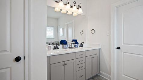 Fairview Gardens Model Home Master Bathroom - DSLD Homes- Zachary, LA
