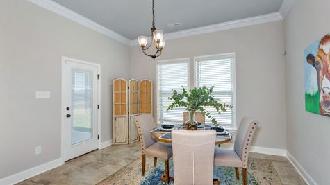 Ivanhoe II A Stone - Newby Chapel Community - DSLD Homes - Madison, AL - Model Home Dining Room
