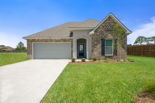 Orleans Run - Model Home Exterior - DSLD Homes - Trillium III A - Lake Charles, LA