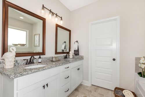 Parkside - DSLD Homes - Colebrook II A - Meridianville, AL - Model Home Master Bathroom