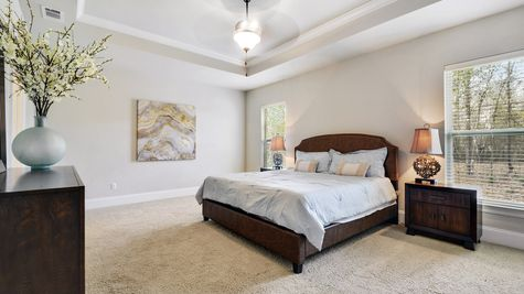 Master Suite with Decor - Northern Oaks - DSLD Homes Pass Christian