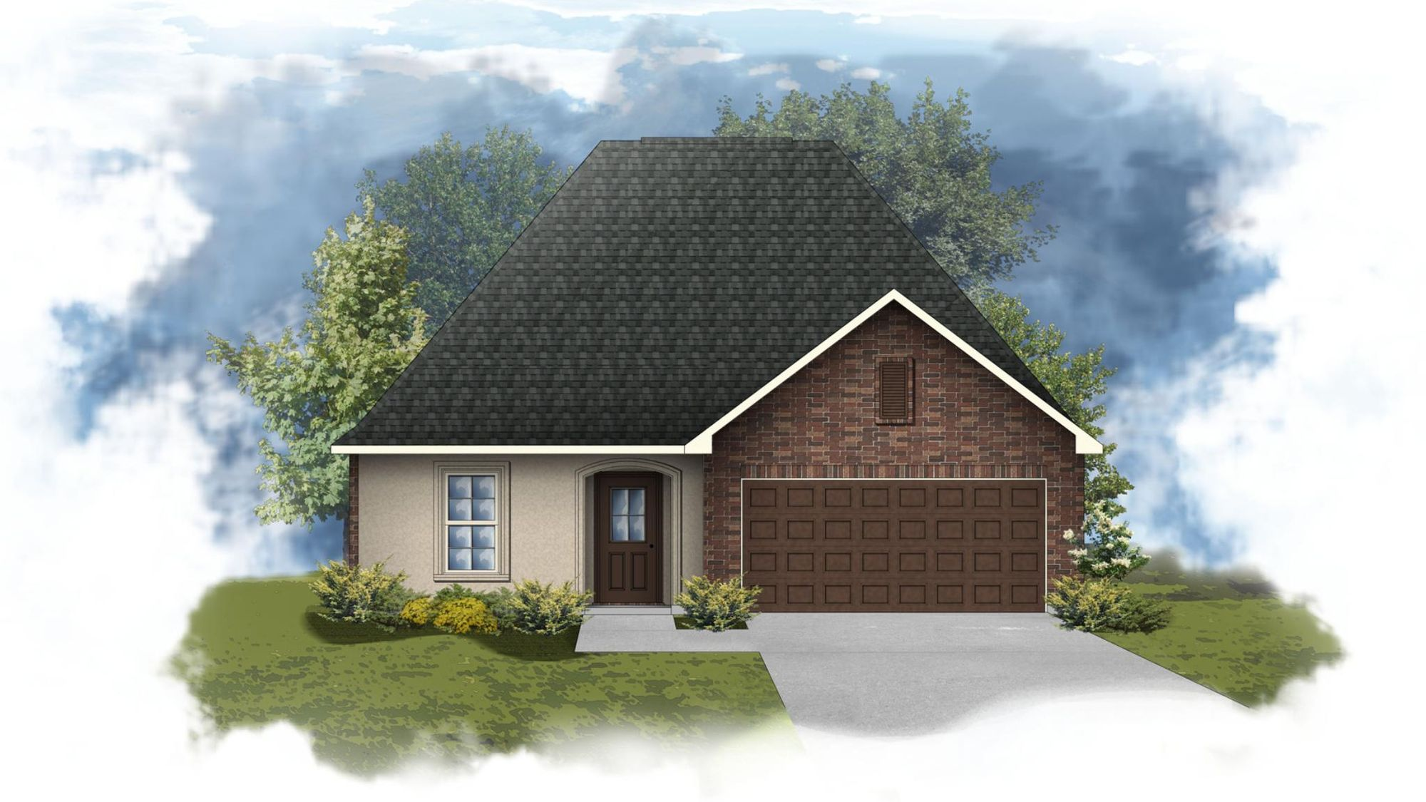 Narbonne III A Open Floorplan Elevation - DSLD Homes