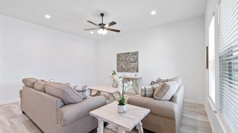 DSLD Homes Troy III G Floorplan Living Room Image - Covington Place Cottages - Covington, LA