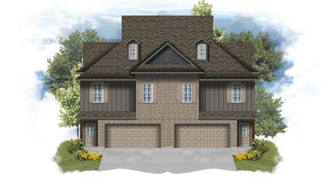 The Cottages at University Villas - Cadet I B Elevation Rendering - DSLD Homes - Baton Rouge, Louisiana