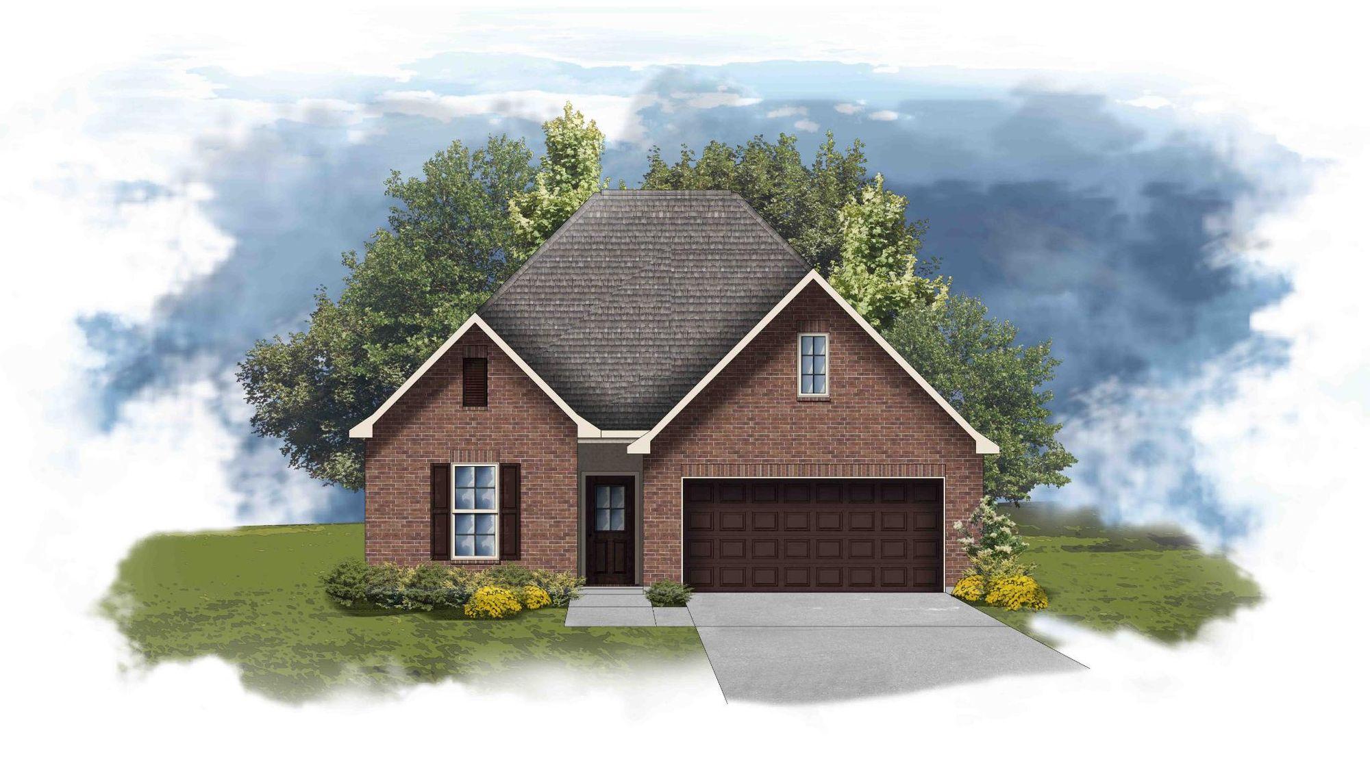 Fleetwood II A - Front Elevation - DSLD Homes