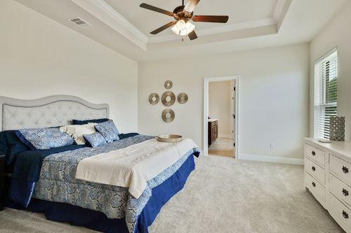 Cedar Bend - Model Home Master Bedroom - DSLD Homes - Reims IV B - Zachary, LA