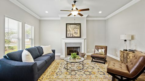 Model Home Living Room - DSLD Homes in Bossier City - Willow Heights