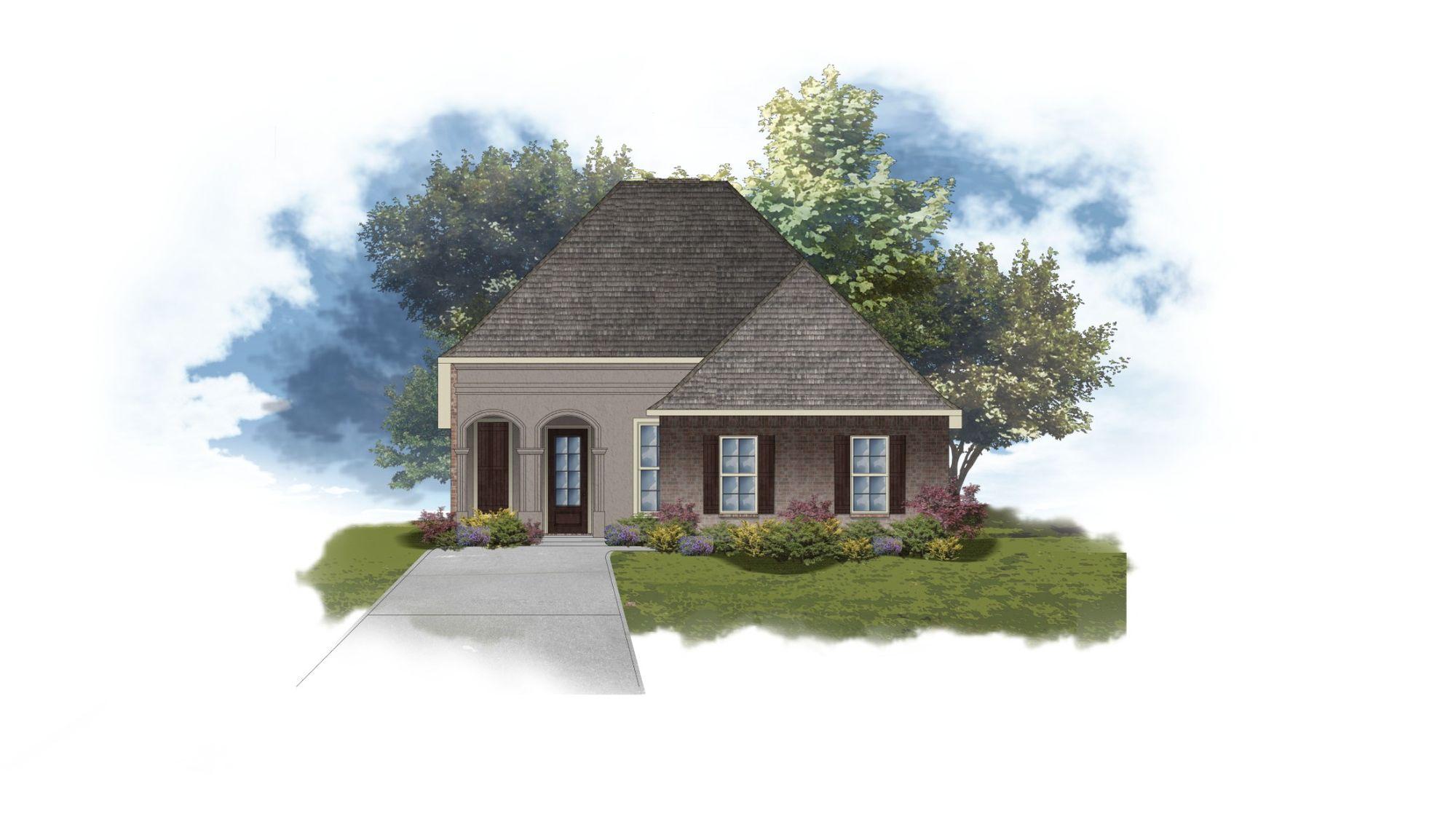 DSLD Homes - Ricci II A Open Floorplan Elevation Image