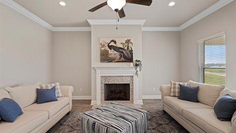 Somerset Park Model Home Living Room - DSLD Homes - Sterlington, LA