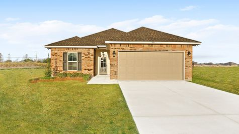 Olde Towne Model Home Exterior - Olde Towne Community - DSLD Homes Thibodaux