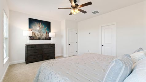 Porter's Cove Model Home Master Bedroom - DSLD Homes - Lake Charles, LA