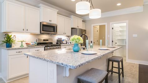 White Kitchen with Stainless Steel Appliances and Granite - Park Place Community - DSLD Homes- Huntsville, Alabama