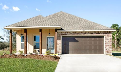 Oak Grove - Model Home Exterior - DSLD Homes - Oleander IV B - Iowa, LA