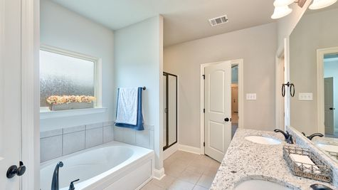 Master Bathroom with Tub and Shower - Lucien  Estates - DSLD Homes Shreveport
