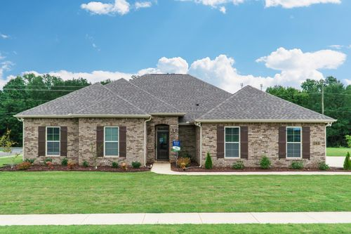 The Estates at Rivers Landing - Model Home Exterior - DSLD Homes - Cleveland III H - Madison, AL
