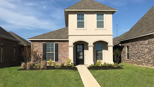Front View - Barcelona III A Traditional Elevation - Somerset Park Community - DSLD HOMES Sterlington, LA