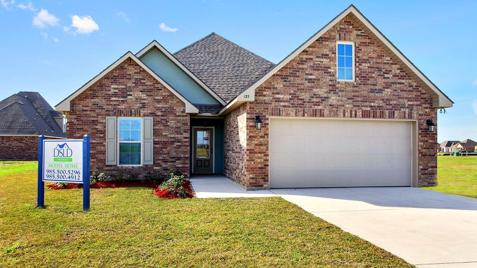 King George Estates Model Home Exterior - King George Estates Community - DSLD Homes - Thibodaux