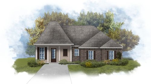 Lacombe III B - Front Elevation - DSLD Homes