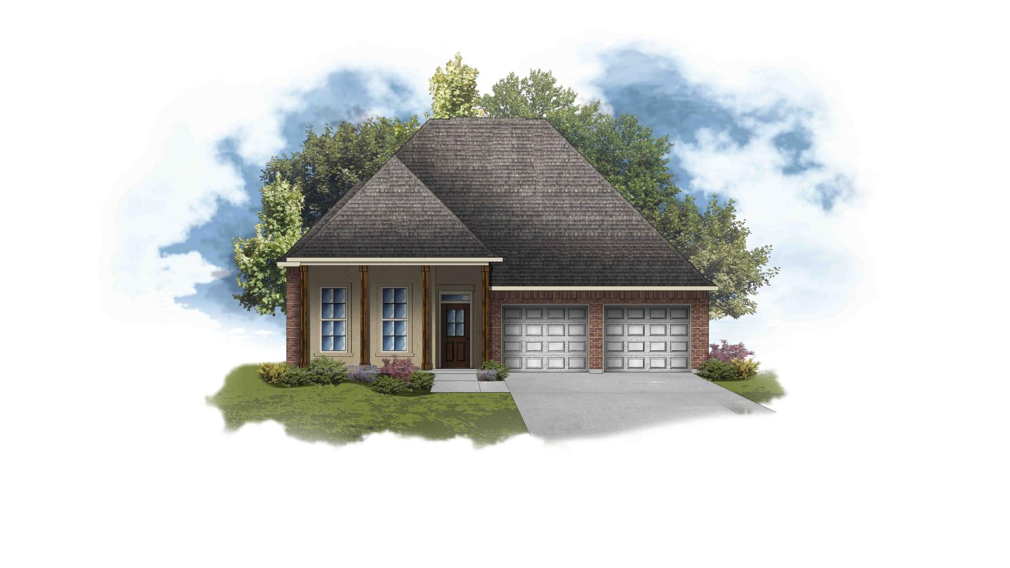 Violet III A - Front Elevation - DSLD Homes