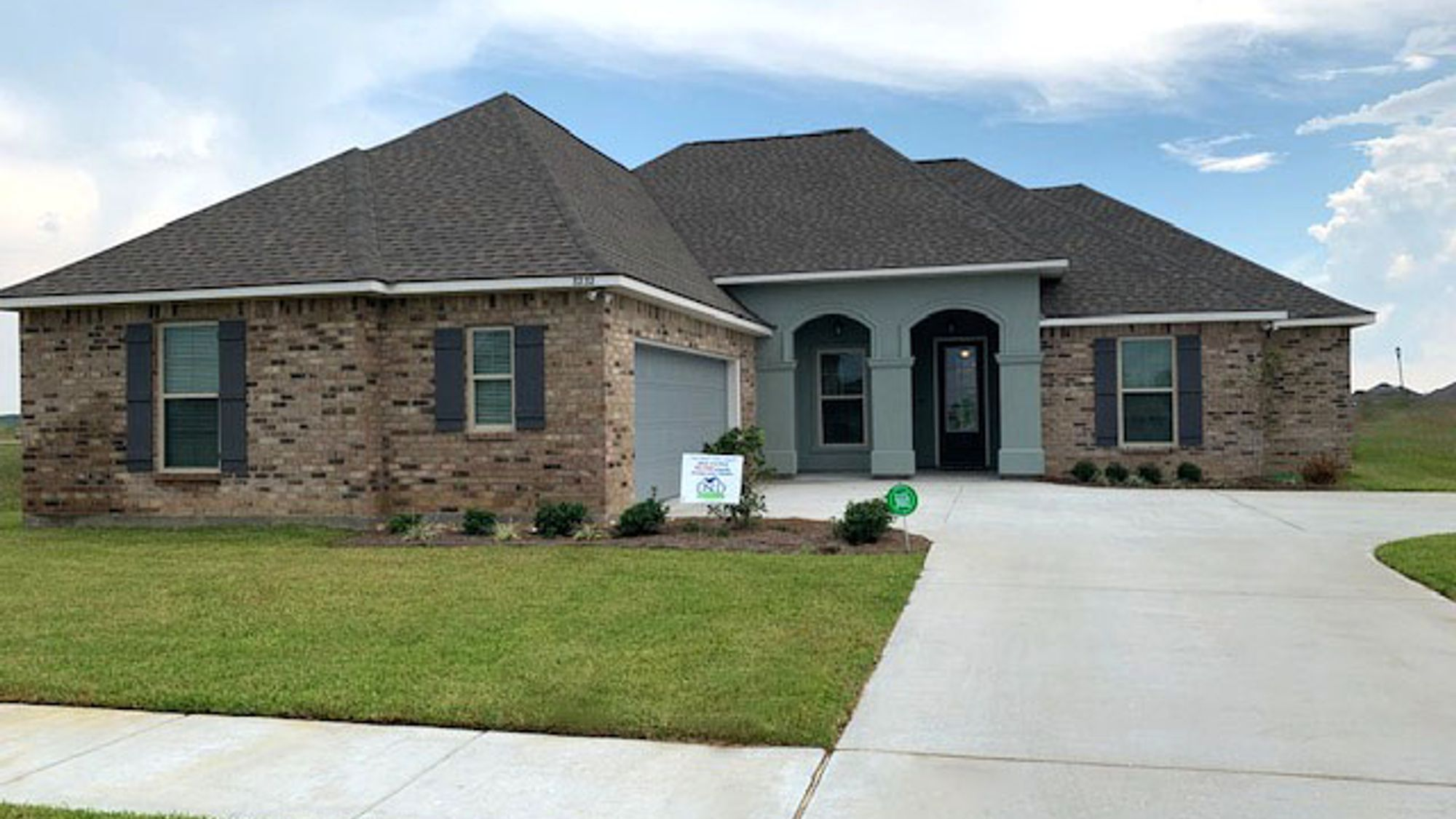 Model Home Exterior - DSLD Homes in Lake Charles - The Cove at Morganfield
