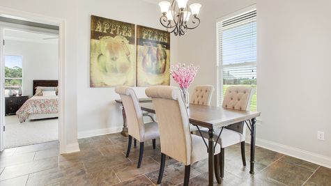 Dining Room - River's Edge - DSLD Homes D'Iberville