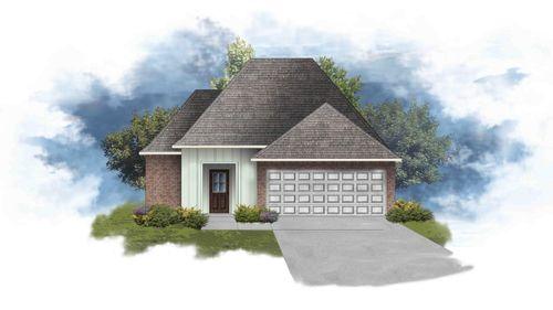 Beringer IV G - Front Elevation - DSLD Homes