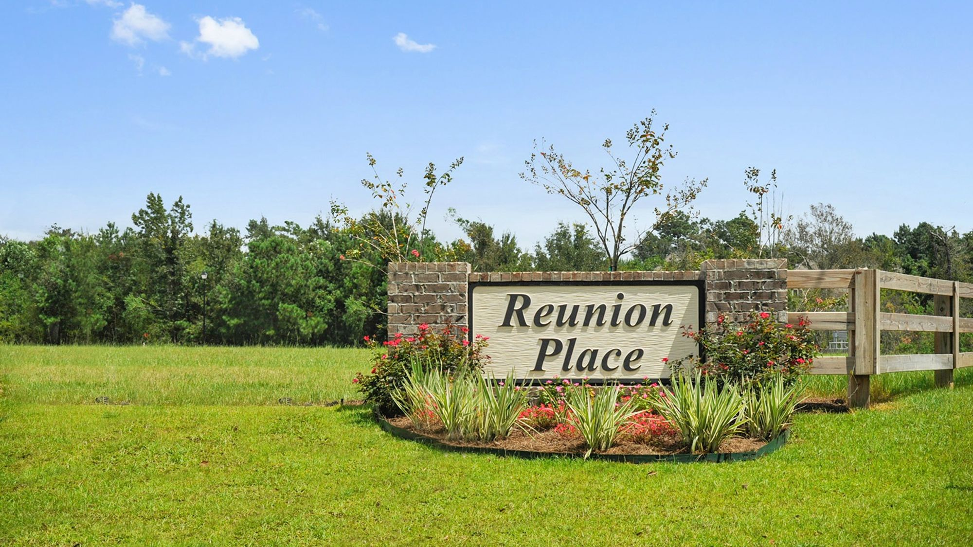 Front Entrance Sign - Reunion Place - DSLD Homes Biloxi