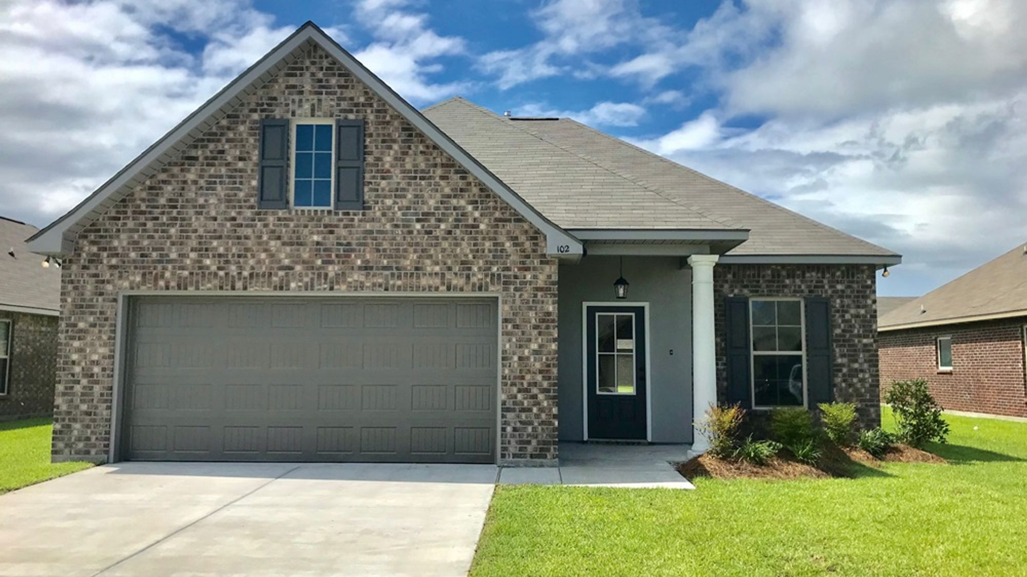 DALTON III A Elevation- Front View – St. David's Cove Community - DSLD Homes – Youngsville, LA