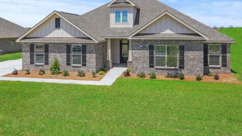 Front View of Model Home  - DSLD Homes - Daphne - Old Field