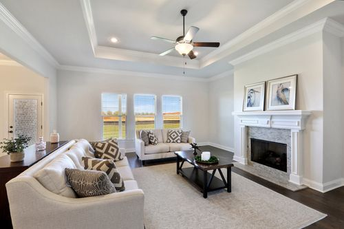 Old Field - Model Home Living Room - DSLD Homes - Coolidge III B - Daphne, AL