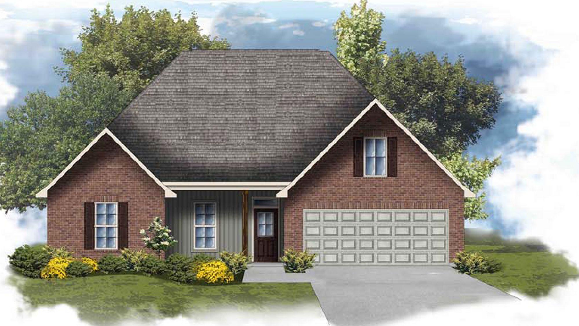 Carey IV H - Front Elevation - DSLD Homes