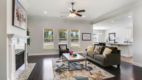 Living Room - Ashton Parc - DSLD Homes Slidell