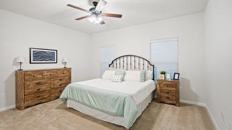 Olde Towne Model Home Master Bedroom- Olde Towne Community - DSLD Homes Thibodaux