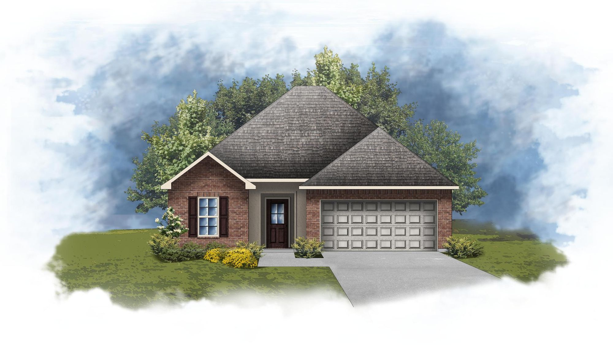 Wimbledon III A - Front Elevation - Open Floor Plan