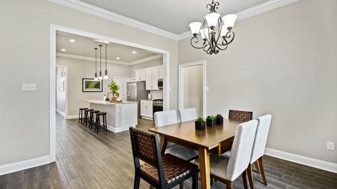 Model Home Dining Room - DSLD Homes in Bossier City - Willow Heights