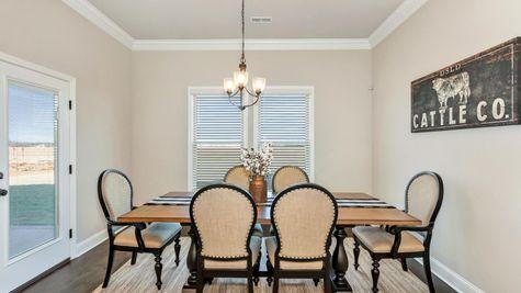 Parkside - Colebrook II A - DSLD Homes - Meridianville, AL - Model Home Dining Room