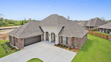 Front of Model Home - River's Edge - DSLD Homes D'Iberville