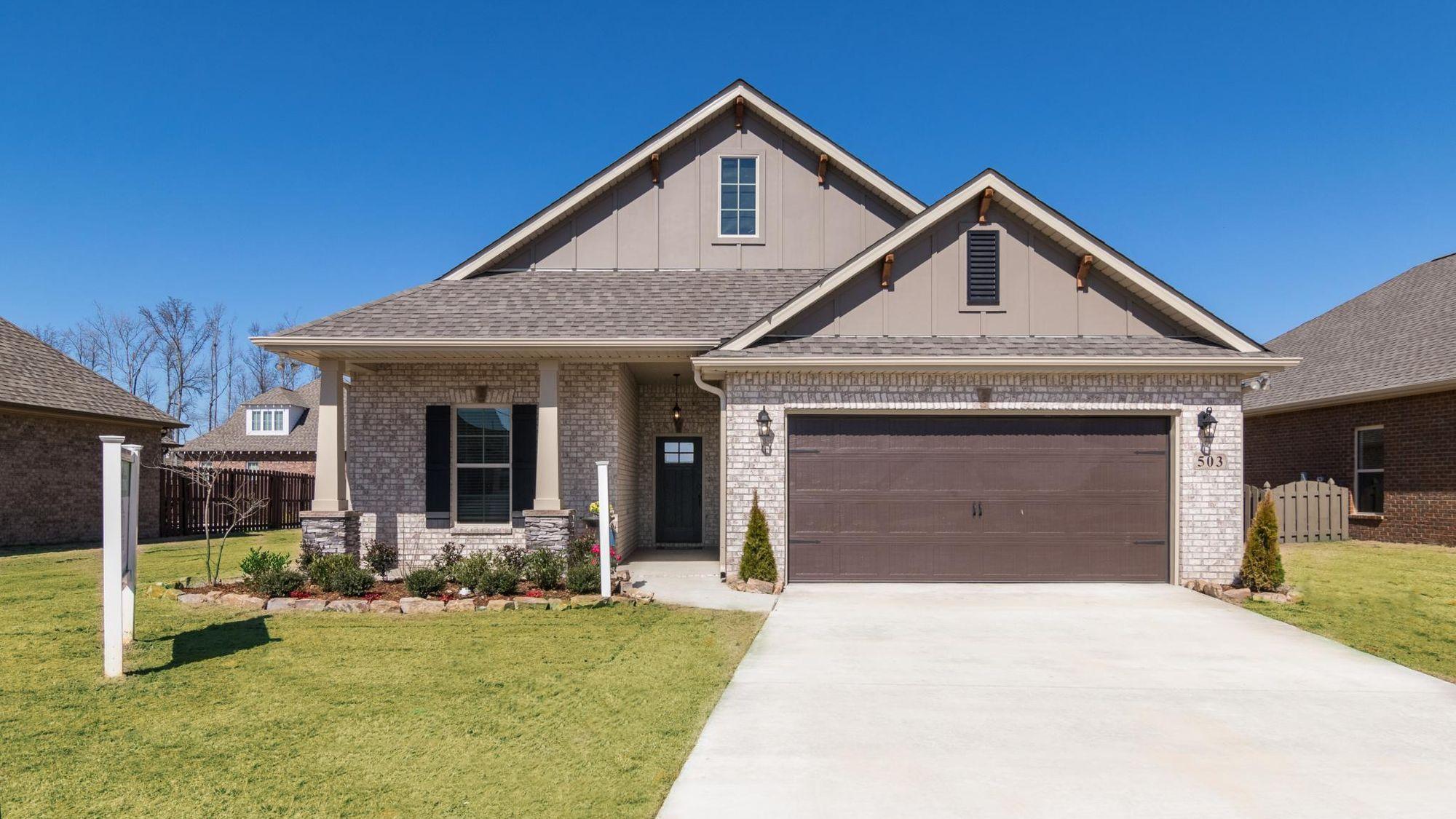 Front of Model Home - Park Place Community - DSLD Homes- Huntsville, Alabama