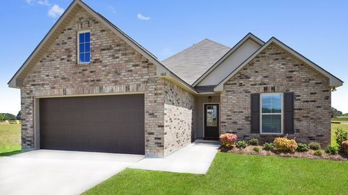 Front of Model Home - DSLD Homes - St. David's Cove in Youngsville