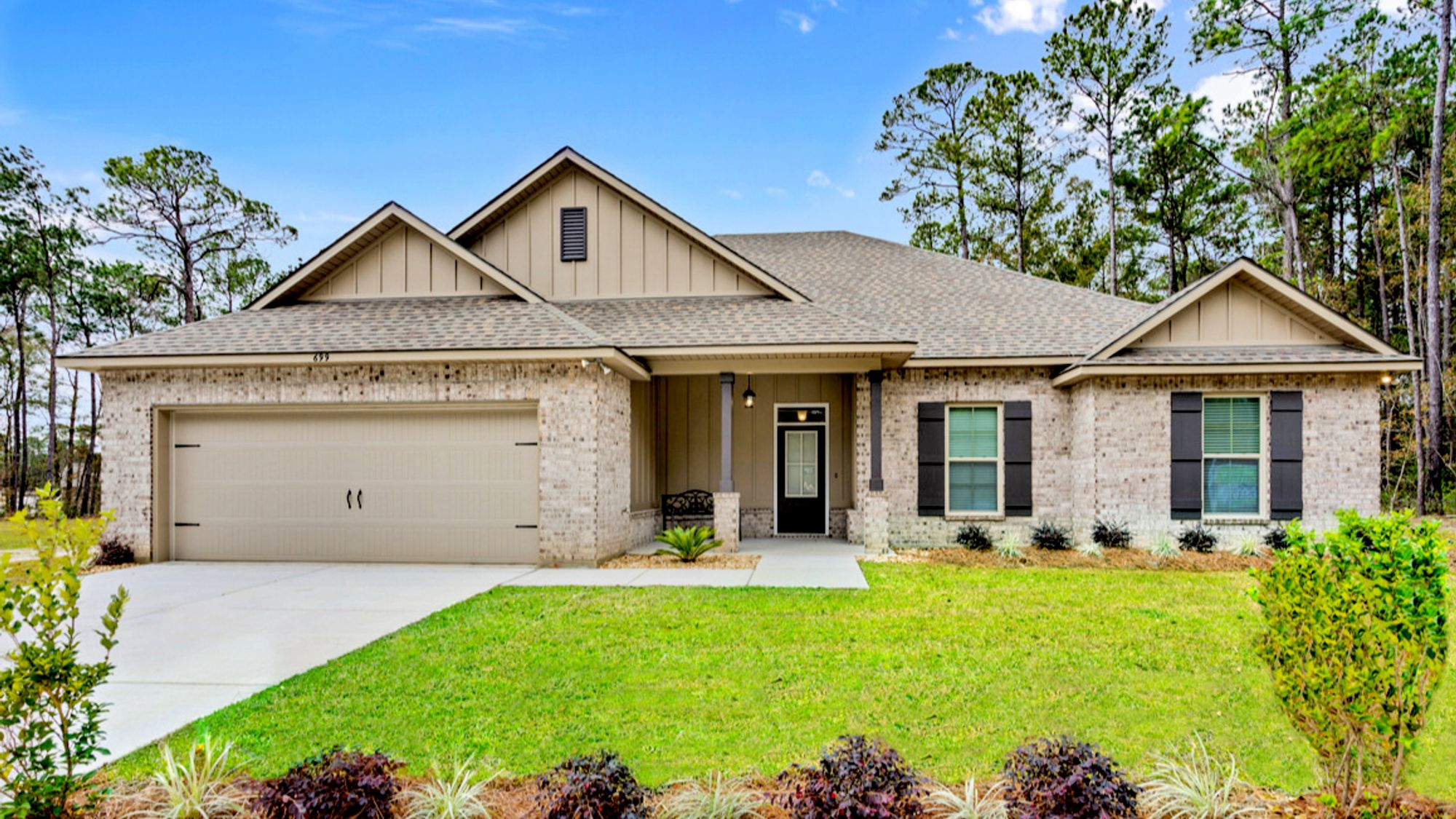DSLD Homes - Talla Pointe Model Home Exterior Elevation Image