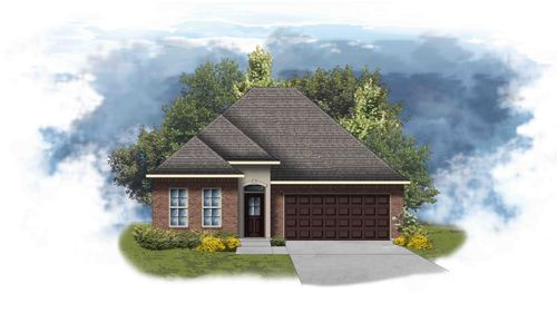 Orchid II A - Front Elevation - DSLD Homes