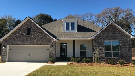 Front of model home- Twin Beech Estates - Fairhope, AL