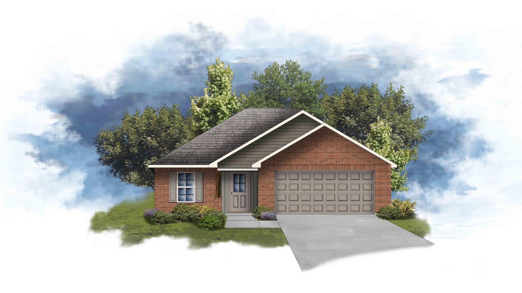 Dryer III G Front Elevation - Open Floor Plan - DSLD Homes