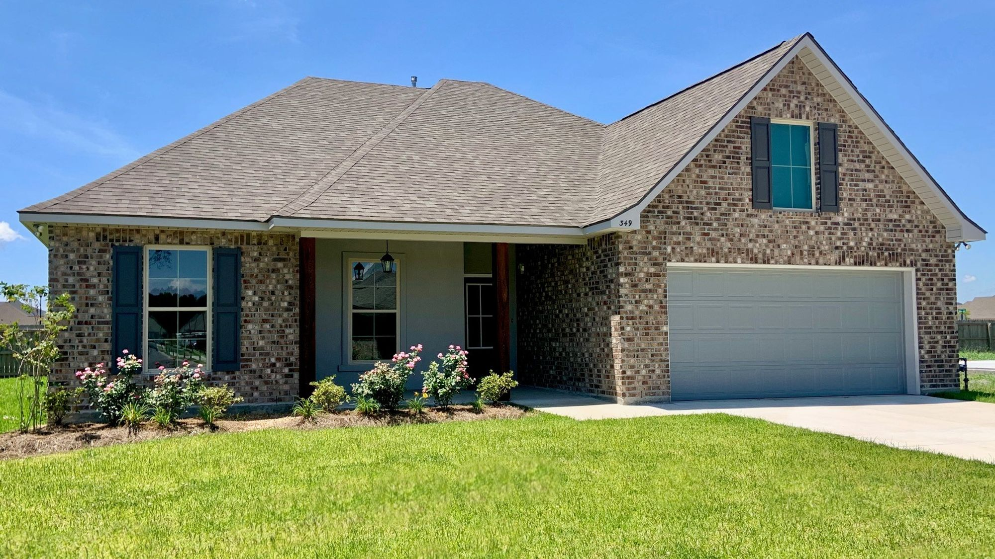 RAVENSWOOD IV A Elevation- Front View – BELLE SAVANNE Community - DSLD Homes – SULPHUR, LA