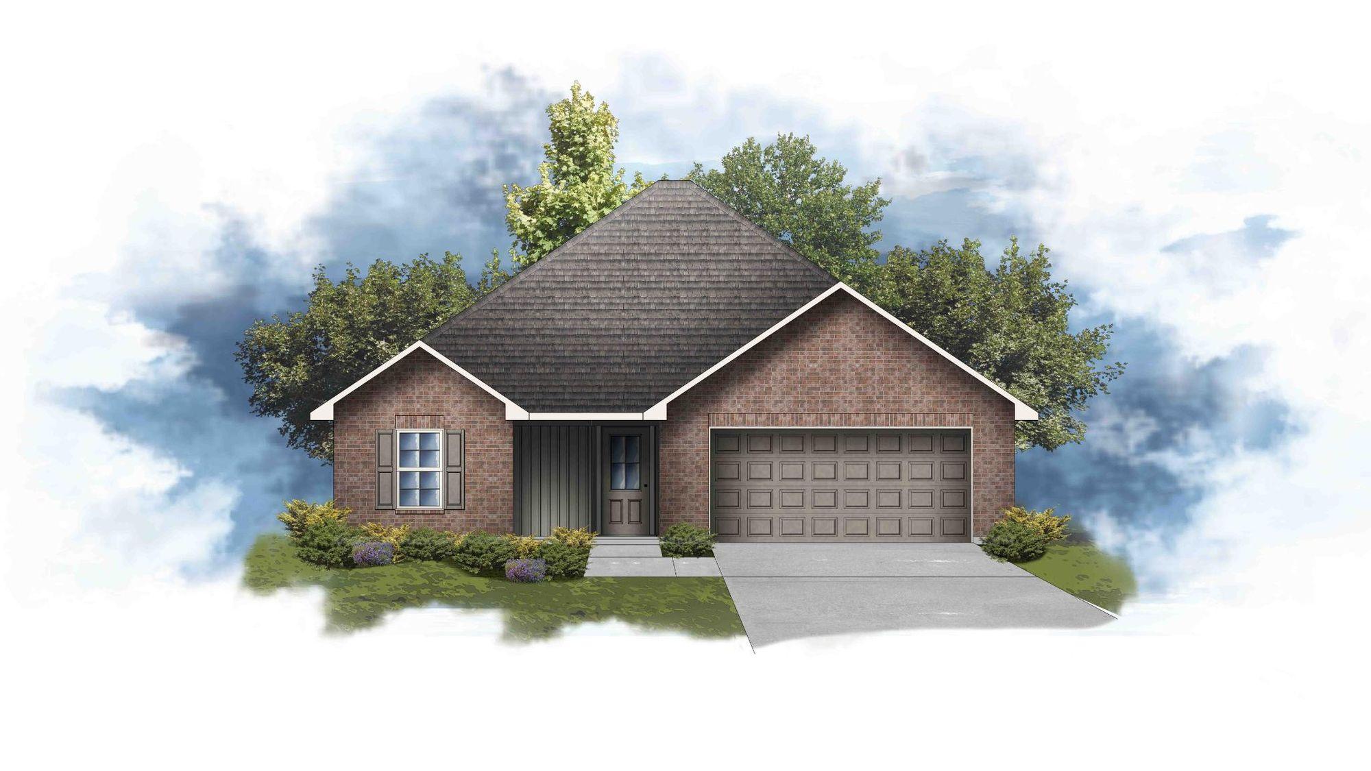 Ayden III G - Front Elevation - DSLD Homes