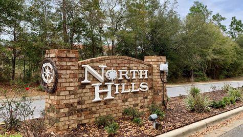 North Hills Front Entrance Sign -MILTON, Florid