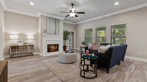 DSLD Homes- Hidden Lakes Estates- Denham Springs- Model Home Living Room