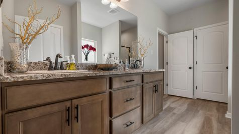 DSLD Homes - Liberty IV H - Cambre Oaks - Gonzales, LA - Model Home Master Bathroom