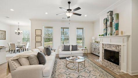 DSLD Homes - Ambassador Gardens - Klein II B - Lafayette, LA - Model Home Living Room