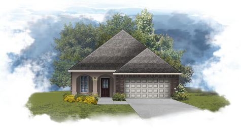 Fareham IV A - Front Elevation - DSLD Homes